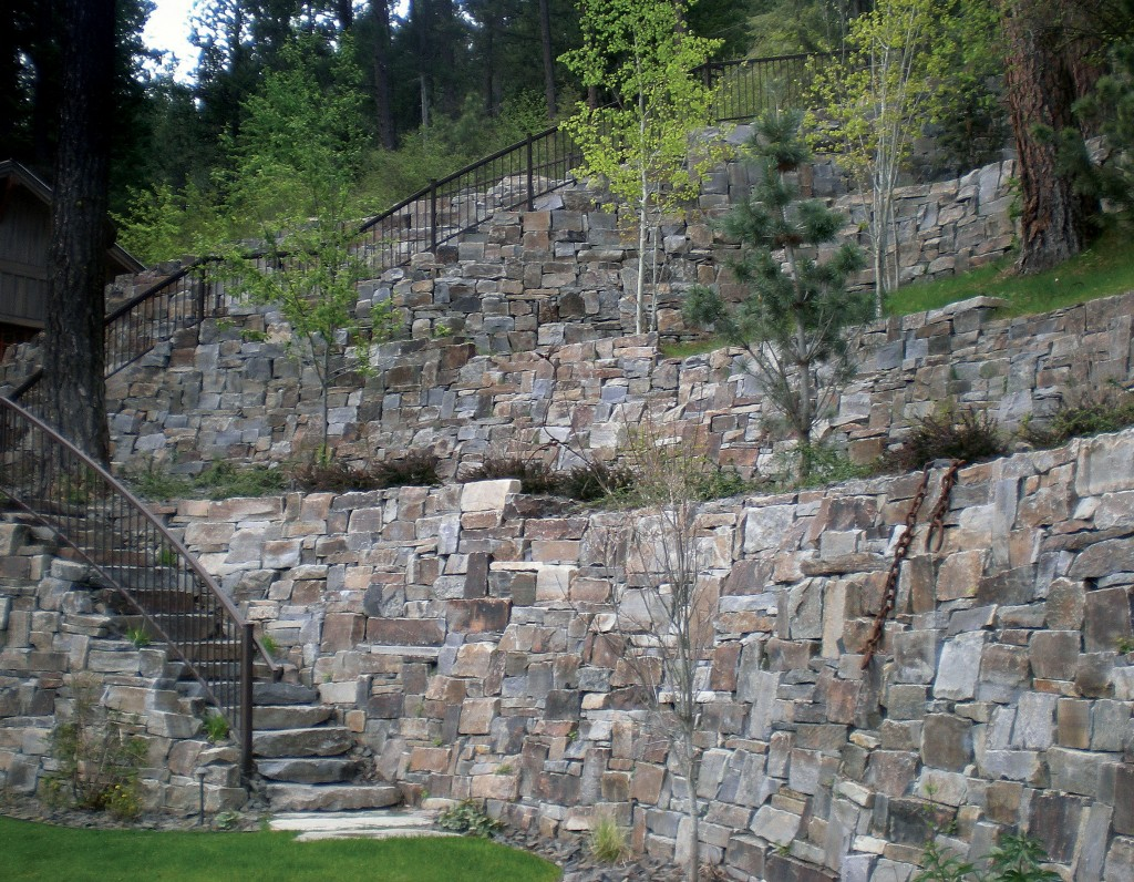 Castle Rock Drystack - Mortared wall