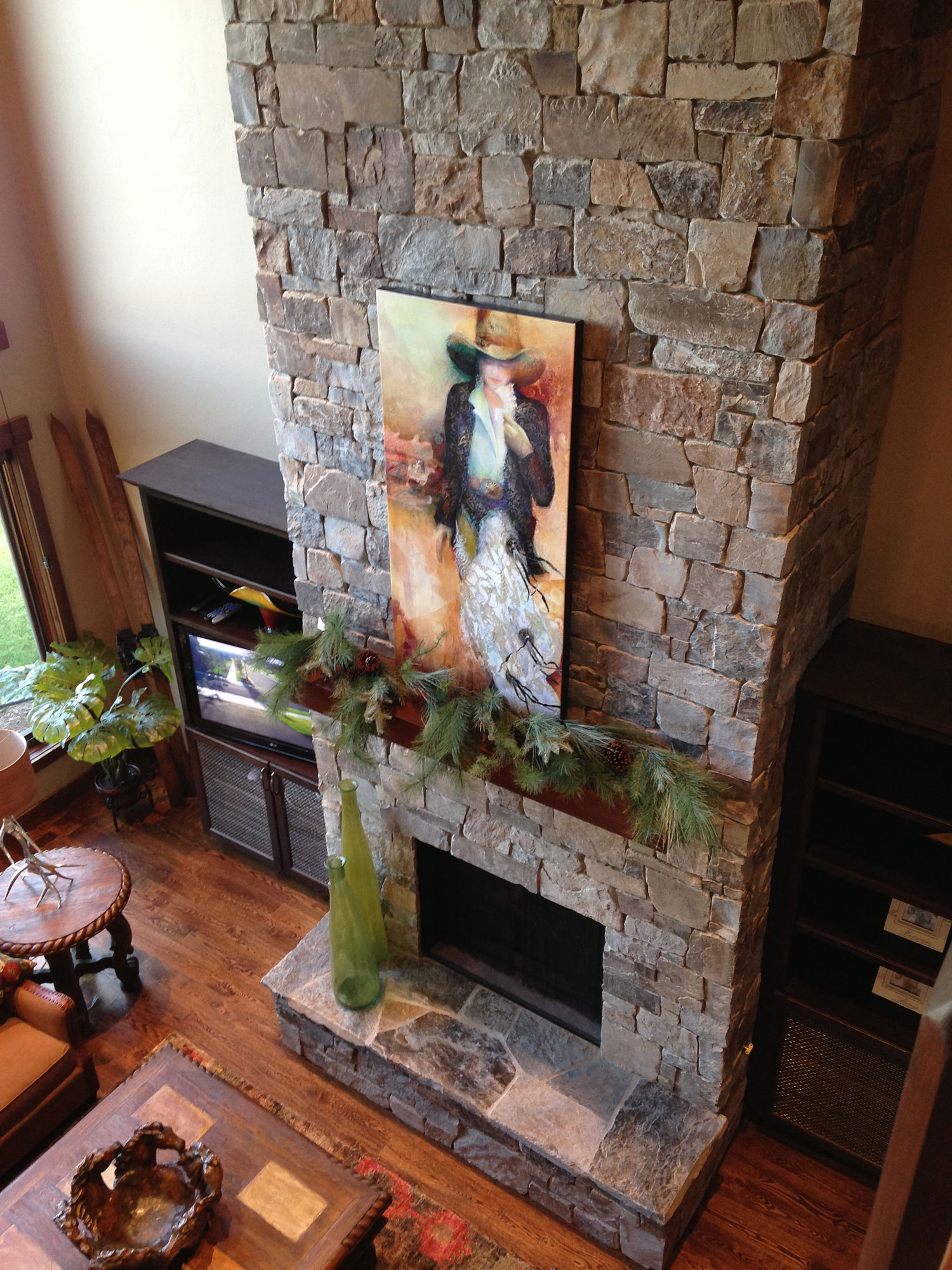 ledge fireplace gallery indoor oklahoma mrw rock hearth castle sbi materials fireplaces